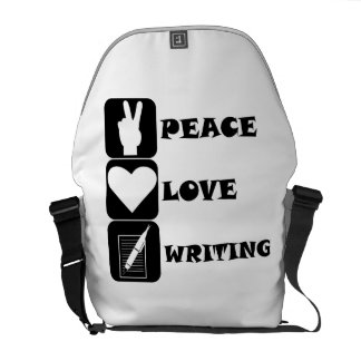 Peace Love Writing Courier Bags