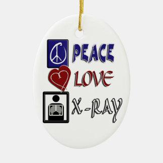 PEACE, LOVE, X-RAY - CHRISTMAS ORNAMENT