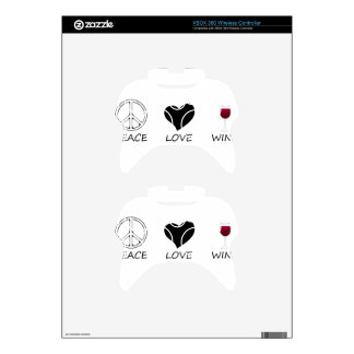 peace love xbox 360 controller skin