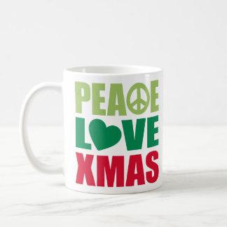 Peace Love Xmas Coffee Mug