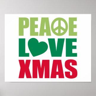 Peace Love Xmas Print