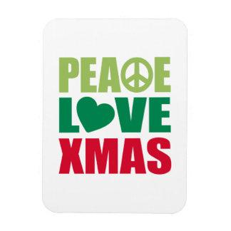 Peace Love Xmas Magnet