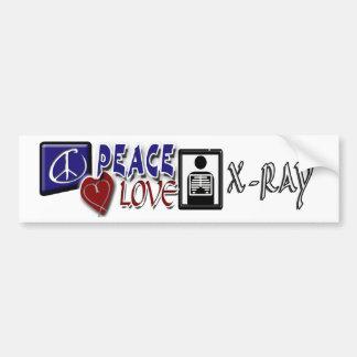 PEACE LOVE XRAY BUMPER STICKER
