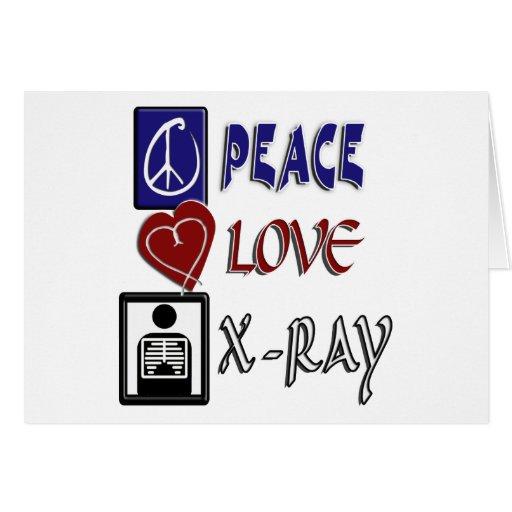 PEACE LOVE XRAY GREETING CARD