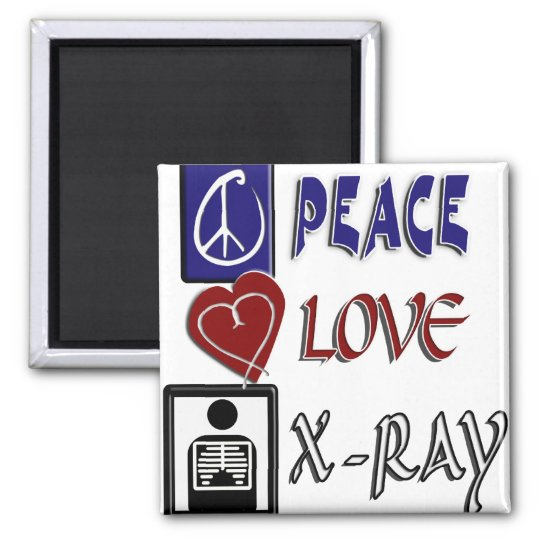 PEACE LOVE XRAY MAGNET