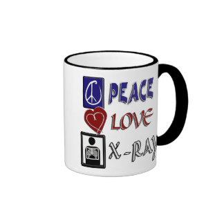 PEACE LOVE XRAY RINGER MUG