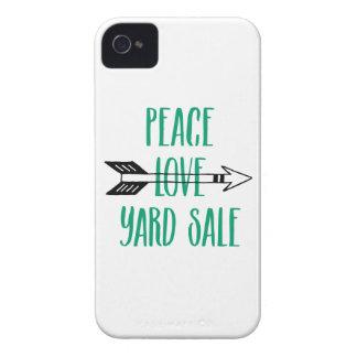 Peace Love Yard Sale Arrow Line Case-Mate iPhone 4 Case