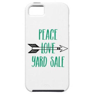 Peace Love Yard Sale Arrow Line iPhone SE/5/5s Case