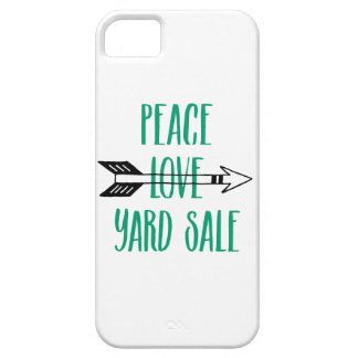 Peace Love Yard Sale Arrow Line iPhone SE/5/5s Case