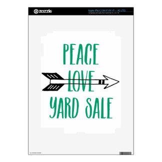 Peace Love Yard Sale Arrow Line Skins For iPad 3