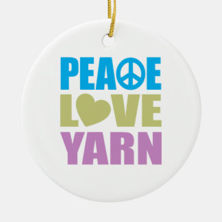 Peace Love Yarn Christmas Ornaments