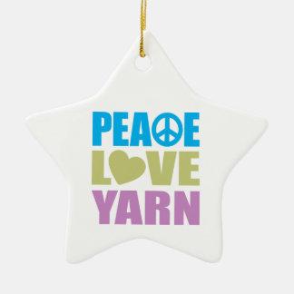 Peace Love Yarn Ornaments