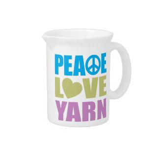 Peace Love Yarn Pitcher