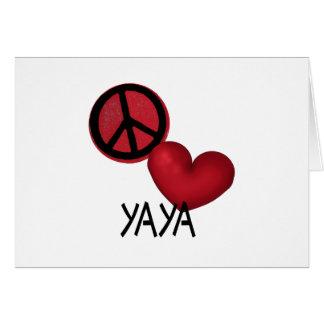 Peace Love YaYa Card
