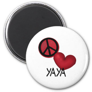 Peace Love YaYa Refrigerator Magnet