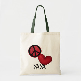 Peace Love YaYa Tote Bag