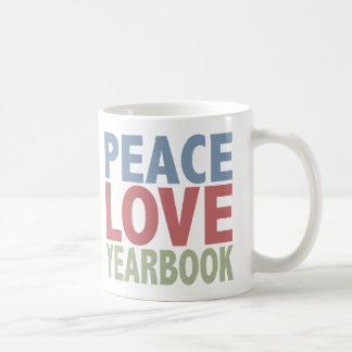 Peace Love Yearbook Coffee Mugs