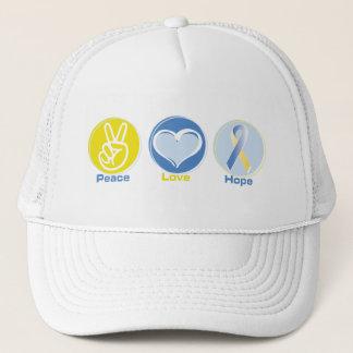 Peace Love Yellow/Blue Hope Trucker Hat