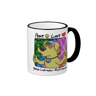 Peace Love Yellow Lab Mug