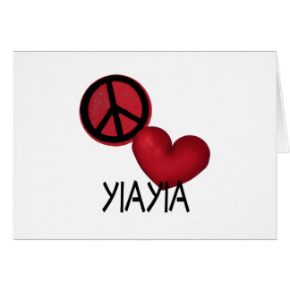 Peace Love YiaYia Card