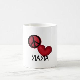 Peace Love YiaYia Coffee Mug
