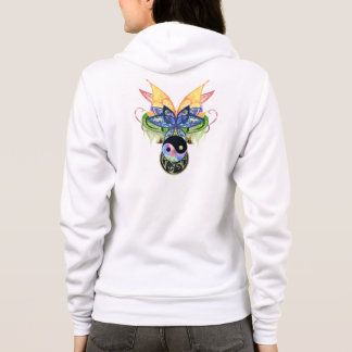 Peace Love Ying Yang One of a Kind Art Hoodie
