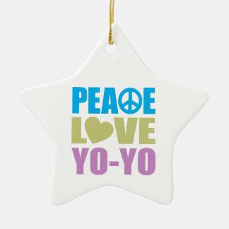 Peace Love Yo-Yo Ceramic Ornament