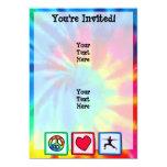 """Peace, Love, Yoga 5"""" X 7"""" Invitation Card"""