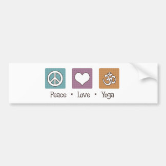 Peace Love Yoga Bumper Sticker