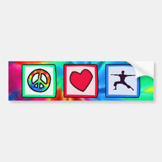 Peace, Love, Yoga Bumper Stickers