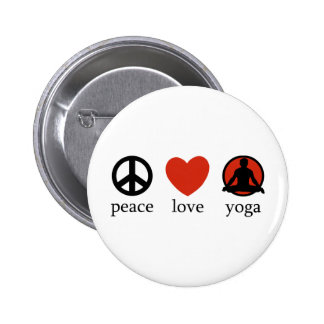 Peace Love Yoga Button