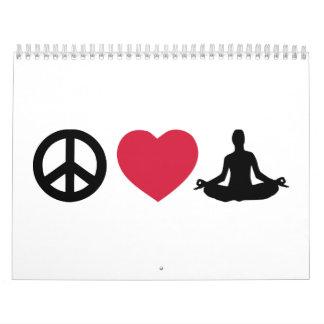 Peace love Yoga Calendar