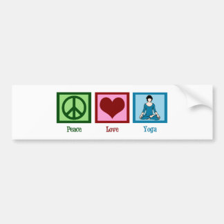 Peace Love Yoga Car Bumper Sticker