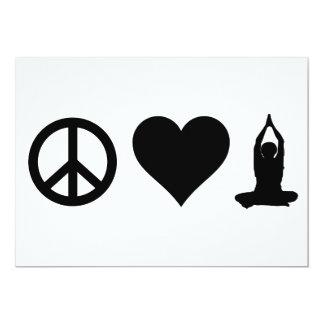 Peace Love Yoga Card