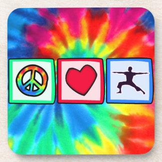 Peace, Love, Yoga Coaster