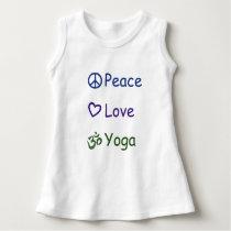 Peace Love Yoga Dress