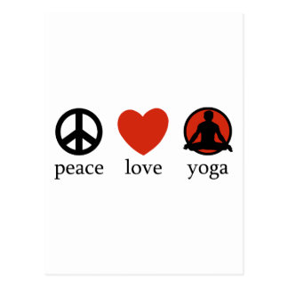Peace Love Yoga Gift Post Cards