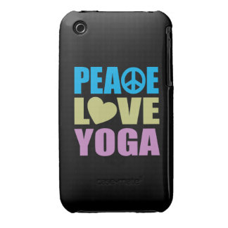 Peace Love Yoga iPhone 3 Case-Mate Cases