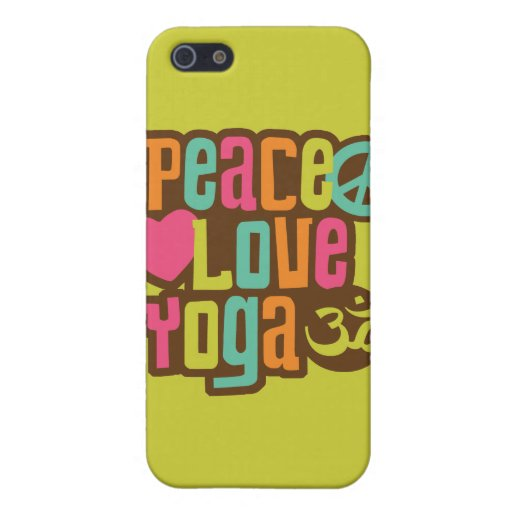Peace Love Yoga iPhone 5 Cases