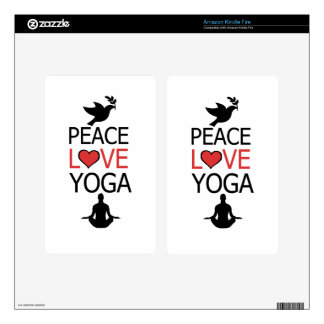 Peace Love & Yoga Kindle Fire Skins