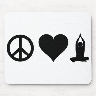 Peace Love Yoga Mouse Pad