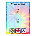 Peace, Love, Yoga Personalized Invite