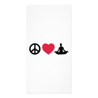 Peace love Yoga Picture Card