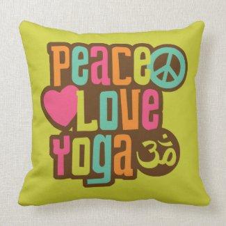 Peace Love Yoga Pillow