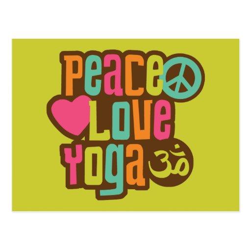 Peace Love Yoga Postcard