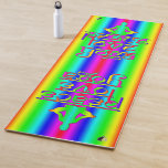 Peace Love Yoga Rainbow Intentions Yoga Mat