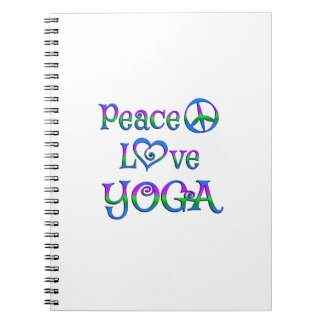 Peace Love Yoga Spiral Notebook