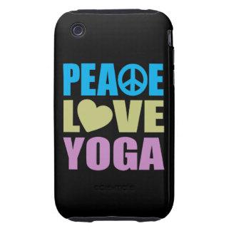 Peace Love Yoga Tough iPhone 3 Cases