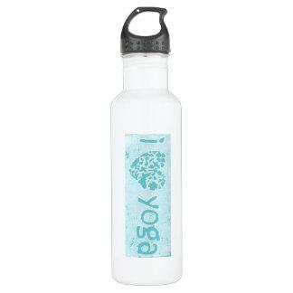 """""""peace love yoga"""" water bottle"""