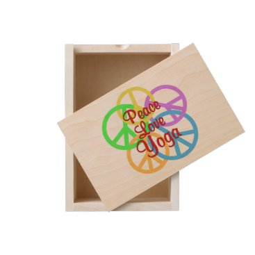 Peace Love Yoga Wooden Keepsake Box